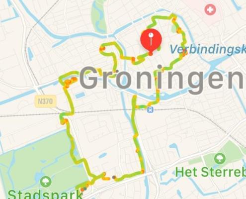 route urbantrail Groningen 2run4health&fun